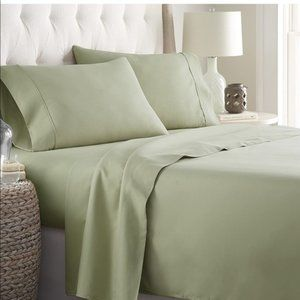 Bamboo Sheets 6 piece set Queen Olive